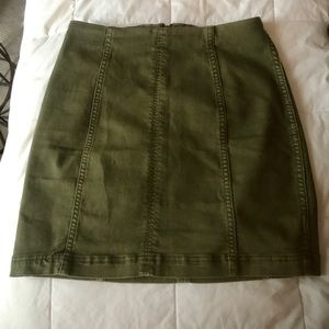 3ecf51b12 Free People Skirts - Free People Modern Femme Denim Mini Skirt in Green